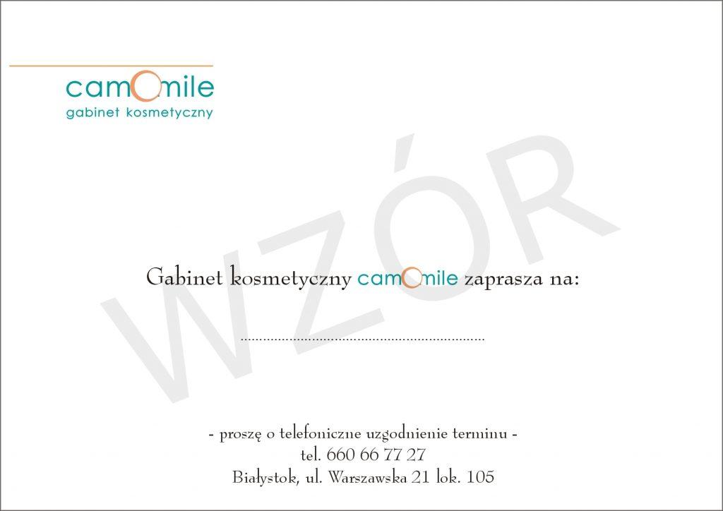 Karnet Salon Kosmetyczny Camomile Białystok 1